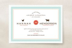 Boy Meets Girl Wedding Invitations by 2BSquared Designs at minted.com