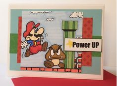 SC618 Super Mario Get Well by Jennifrann - Cards and Paper Crafts at Splitcoaststampers