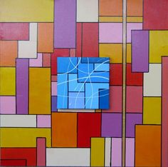 Overlapping canvases and chromatic contrasts | italiaworldwide