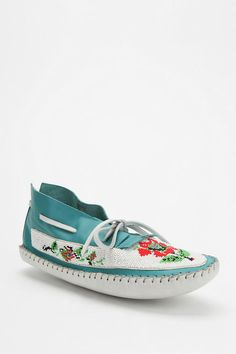 Ecote Floral Beaded Moccasin  #UrbanOutfitters