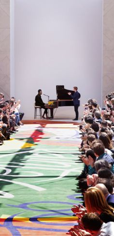 Benjamin Clementine playing the soundtrack to the Burberry men's S/S15 runway