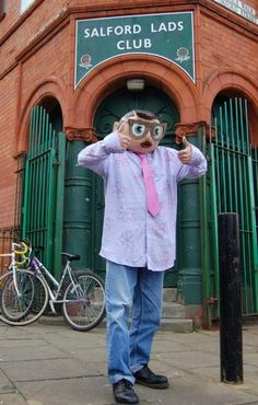 Panic on the streets of Timperley with Frank Sidebottom. Erm, actually Salford.