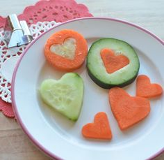 Cupids Cucumbers and Carrots-Great way to get your kids to eat their veggies!