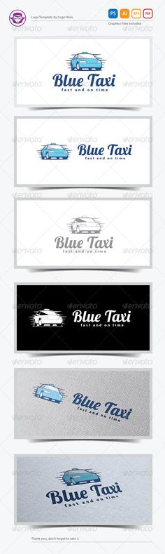 Blue Taxi Logo Template