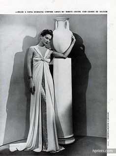 Madeleine Vionnet (Couture) 1937 Photo Man Ray, Evening Gown