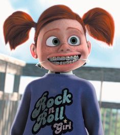 Darla Sherman is the secondary antagonist from the Disney/Pixar 2003 film Finding Nemo. Disney Pixar, Walt Disney, Disney Villains, Disney Movies, Disney Characters, Famous Villains, Disney Cars, Celebrities With Braces, Monster University