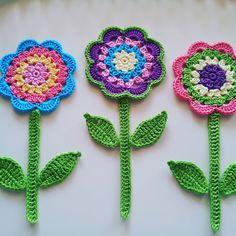 Meet Flourish and Fly - creator of gorgeous crochet jewellery Granny Square Crochet Pattern, Crochet Flower Patterns, Flower Applique, Crochet Motif, Crochet Flowers, Crochet Stitches, Crochet Gifts, Cute Crochet, Easy Crochet
