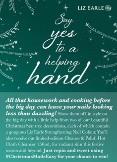 I'm in to gorgeous nail treats with Liz Earle's Dec only. Christmas Things, Christmas Wishes, All I Want, My Love, Helping Hands, Gorgeous Nails, Giveaways, Body Care, Make It Simple