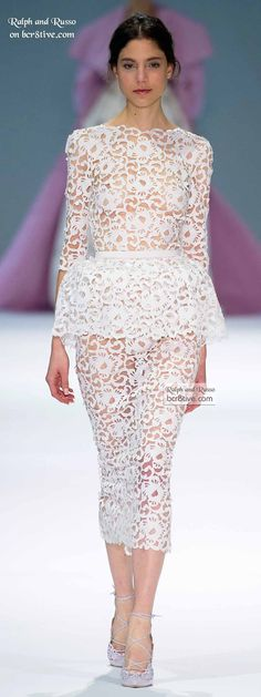 Ralph & Russo Spring 2015 Couture wedding bridal runway white laser cut lasercut dress