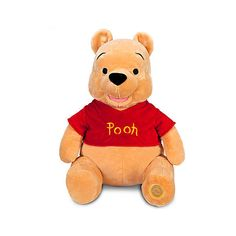 Disney Exclusive Large WINNIE THE POOH Plush Toy -- H seated. Disney Store Exclusive Winnie the Pooh Plush - High Seated. Shirt has embroidered ''Pooh''. Left foot has ''Genuine Original Authentic Disney Store'' patch. Winnie The Pooh Plush, Disney Winnie The Pooh, Lego Disney, Disney Toys, Disney Stuffed Animals, Disney Plush, Pooh Bear, Disney Merchandise, My New Room