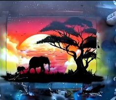 African sunset: let your mind wander into the world of beauty