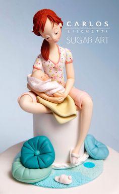 Hermosa escultura en azúcar de Carlos