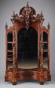 ornate cherub mirror