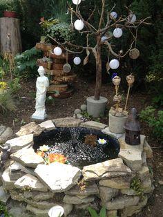 Gartenbrunnen selbstgemacht.
