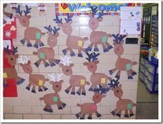 Christmas Wall outside of classroom
