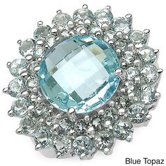 Malaika Sterling Silver Round-cut Gemstone Cluster Ring