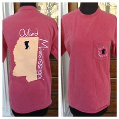 Oxford, MS t.shirt with Colonel Shadow where Oxford is. Comfort Color brand t.shirt Exclusive to The Lily Pad Oxford Mississippi, Ole Miss, Lily Pad, My Love, Sweatshirts, My Style, Rave, Ms, Sweaters