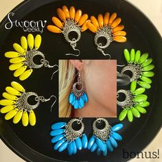 These Nomad Earrings are our five-item bonus this week! (or $5 if we have any left after bonuses are fulfilled)  Order five items and get these on us!  Color choice priority goes to the customers who place their fifth item orders first.  Happy Friday!!! #boho #bonus #bohemian #truth #beauty #jewelry #swoon #swoonweekly #befabulous #friyay #friday #lovethese