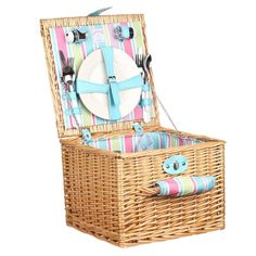 For something a bit more classic why not try our Wicker Picnic Hamper? Perfect for those days out --- Indulge in the great outdoors and picnic in style with or Navigate Candy 2 Person Wicker Picnic Hamper --- Available from Roman at Home. Images Copyright www.romanathome.com