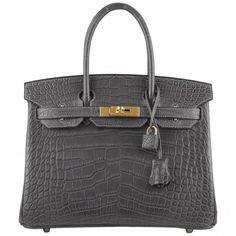 75d3c0b4973 Hermes Graphite Matte Alligator Birkin 30cm Gold Hardware  Designerhandbags  Hermes Box