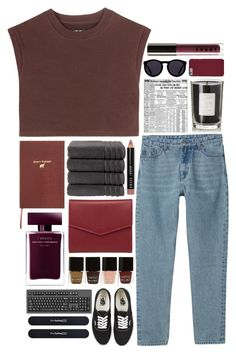 """""""Burgundy & black together"""" by arianaforever14 ❤ liked on Polyvore featuring adidas Originals, Monki, Sloane Stationery, Lodis, Nails Inc., Narciso Rodriguez, Vans, Christy, Bobbi Brown Cosmetics and MAC Cosmetics"""