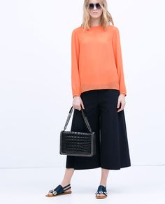 ZARA - SHOES & BAGS - CROC AND CHAIN CITY BAG
