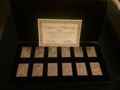 1988 Topps Aluminum Baseball Cards & Box,Topps Gallery Of Champions,Certificate #Topps