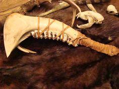 Paleo-art,  bone knives and tools