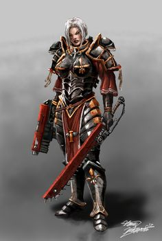 40k - The Sister of Battle by LordHannu.deviantart.com