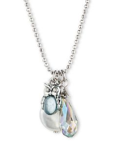 Jewelry & Accessories | Pendants | Silver Tone Owl and Mother of Pearl Pendant Necklace | Lord and Taylor