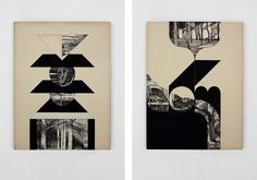 Louis Reith - Untitled, 2011  Collage and acrylics on wooden panels  380 x 490 mm