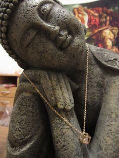Necklace and earings golden cristal de Victoriaprettyangels en Etsy