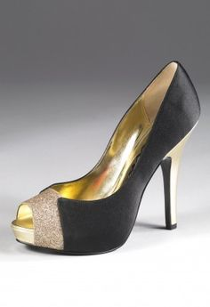 Shoes - High Heel Open Toe Glitter Pump from Camille La Vie and Group USA prom