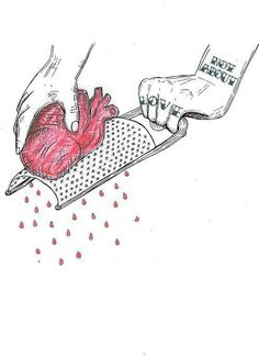 beast way to ... :'(  #heart#love#break#sadlove#sad#red@قلب#حب#عربي