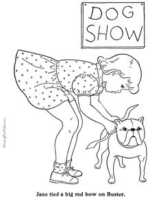 Fun coloring sheets - Puppy to color! Free, printable puppy coloring sheets of dogs are of fun for kids! Dog Pictures To Color, Colorful Pictures, Human Drawing, Line Drawing, Coloring Sheets, Coloring Books, Unique Art Projects, Black And White Art Drawing, Fun Dog