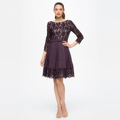 FIT & FLARE DRESS WITH LACE BODICE / FAILLE SKIRT Available at: DILLARDS VON MAUR NORDSTROM