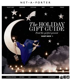 A holiday gift guide to hopefully inspire those last minute online . Newsletter Layout, Email Newsletter Design, Email Newsletters, Christmas Newsletter, Holiday Emails, Email Design Inspiration, E-mail Marketing, Email Campaign, Graphic Design Layouts