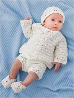 Crochet - Children & Baby Patterns - Wearables Patterns - Little Man Christening Set