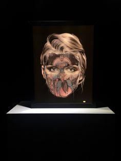 "Sandra Chevrier : Lightbox ""La Cage et la valeur de la vie"", 22.5"" x 17."" x 3.25"" / c.o.a gallery"