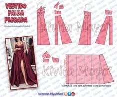 Diy Clothing, Sewing Clothes, Dress Sewing Patterns, Clothing Patterns, Fashion Sewing, Diy Fashion, Gown Pattern, How To Make Clothes, Diy Dress