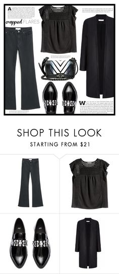 """""""Would You Wear It: Cropped Flares"""" by dolly-valkyrie ❤ liked on Polyvore featuring MANGO, H&M, women's clothing, women's fashion, women, female, woman, misses, juniors and croppedflares"""