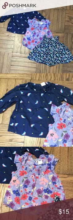 Old navy baby girl tops 3-6 months EUC baby girl tops. Size 3-6 months. No flaws. Lot of 3 Check out my other Janie and jack, old navy, baby gap, target, H&M and carters baby items Old Navy Shirts & Tops