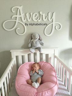 Baby Name Signs for Nursery Girl Boy Wall Letters for Wall Decor Alphabeticals Custom Wooden Name Letters Over Crib Wood Wall Name Avery - Baby Girl Names Wooden Name Letters, Wooden Letters For Nursery, Baby Name Letters, Letters For Kids, Baby Name Signs, Letter Wall, Baby Names, Sign Letters, Large Letters