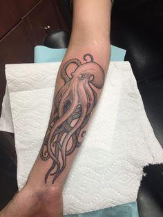 ,  #octopustattoosleevenautical Octopus Tattoo Sleeve, Octopus Tattoo Design, Octopus Tattoos, Animal Tattoos, Sleeve Tattoos, Tattoo Designs, Mermaid Tattoos, Tattoo Dots, Sea Tattoo