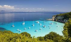 Corfu island TOP 33 beaches in Greece Places Around The World, Travel Around The World, Dream Vacations, Vacation Spots, Beautiful Islands, Beautiful Places, Places To Travel, Places To See, Paxos Greece