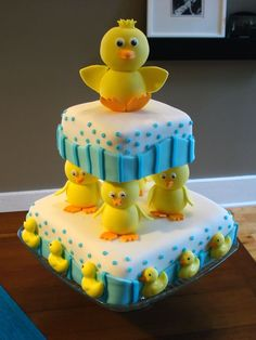 cute duck baby shower cake