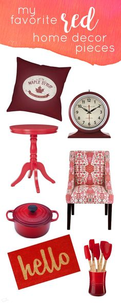 a year of color: my favorite red home décor pieces