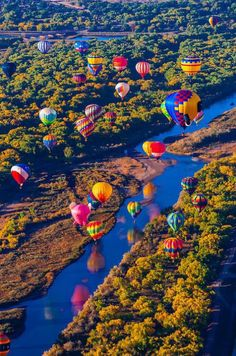 Balloon Fiesta - Albuquerque, NM Another great pic of the balloons over the Albuquerque landscape.
