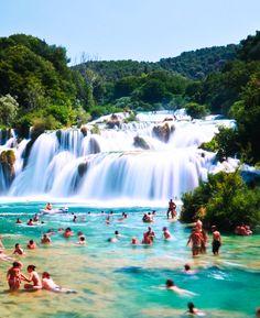 27 Incredible Places That You Should Visit, Natural Pool-Skradinski Buk-With Natural Waterfall,Krka National Park,Croatia Beautiful Vacation Spots, Beautiful Places, Beautiful Days, Amazing Places, Vacation Destinations, Dream Vacations, Croatia Destinations, Croatia Tourism, Croatia Travel