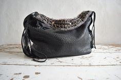 Hey, I found this really awesome Etsy listing at https://www.etsy.com/listing/472879372/black-and-grey-slouchy-pebbled-leather